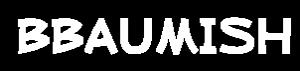 Bbaumish logo vit